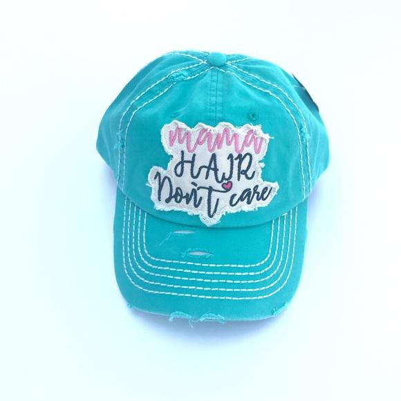31d9eaacdd23da Accessories | On Sale Mama Hair Dont Care Mint Baseball Cap | Poshmark